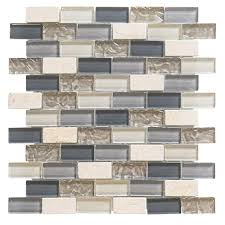 Home Depot Kitchen Backsplash Jeffrey Court Cedar Cove 9 75 In X 11 375 In X 8 Mm Glass