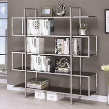Backless Bookshelf Coaster Bookcases Weathered Grey Semi Backless Bookcase A1
