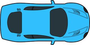 Car Plan View Clipart Blue Racing Car Top View