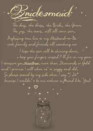 asking of honor poem a creative and way to ask your bridesmaids to be in your