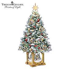kinkade snow kissed memories tabletop tree