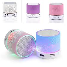 led light bluetooth speaker led light mini bluetooth speaker usb wireless portable music sound