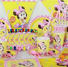 minnie mouse theme party 78pcs kids birthday party decoration set birthday baby minnie