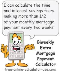 Amortization Table With Extra Payments Biweekly Extra Mortgage Payment Calculator With Amortization