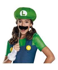 Tween Girls Mario Costume Super Mario Brothers Luigi Tween Costume Video Game Costumes