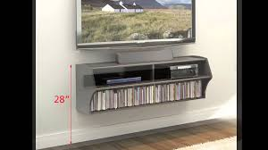 Modern Wall Mounted Entertainment Center How To Install Prepac U0027s Wall Mounted Products Youtube
