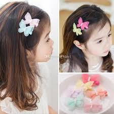 barrettes hair new fashion simulated yarn butterfly baby pearl hairpins hair