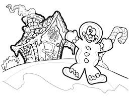 christmas clown gingerbread house coloring download