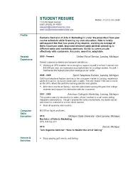 good resume examples for students resume resume example student