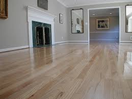 oak floor refinished from a brown stain to