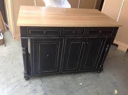 black distressed kitchen island furniture for rustic kitchen design and decoration using