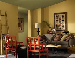 living 4 type of paint in wall or living room office design