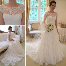 new arrival lace a line princess wedding dresses 2016 with cap