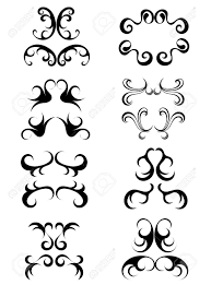 vintage ornaments vector illustration royalty free cliparts