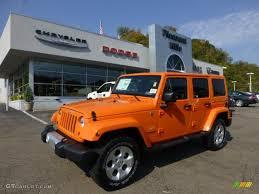 jeep rubicon orange 2013 crush orange jeep wrangler unlimited sahara 4x4 71819445
