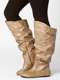 s extended calf size 12 boots strut around in style in these fashion slouch boots featuring a