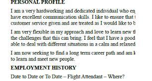 Sample Resume Of Flight Attendant by Flight Attendant Cv Example Template Lettercv Com