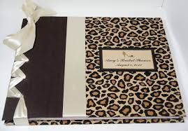 bridal shower photo album cheetah guestbook bridal shower book leopard guest book