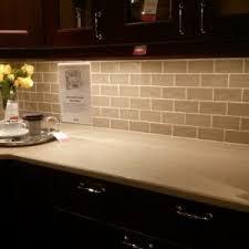 cream glass subway tile kitchen backsplash tikspor