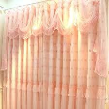 light pink ruffle curtains pink valance curtain light pink valance curtain peachmo co
