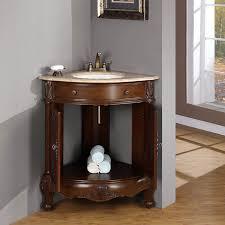Corner Vanities Bathroom 32 Travertine Top Corner Sink Bathroom Single