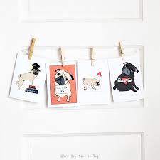 greeting cards the of snail mail all you need is pug