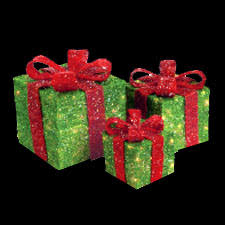lighted christmas present boxes 3 lighted green gift boxes