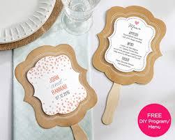 fans for wedding personalized kraft fan rustic wedding fan favors by kate