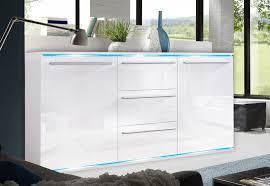 kommode weiãÿ hochglanz design sideboard kommode anrichte 132cm weiß weiß hochglanz neu