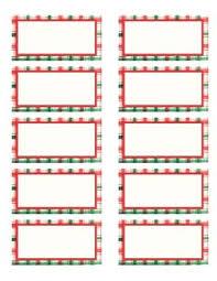 Christmas Gift Tag Template Printable