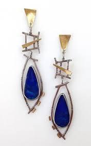 gaudy earrings geometric earrings falling temple reversed by jamiespinello