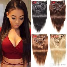 in extensions colorful clip in human hair weaves extensions black