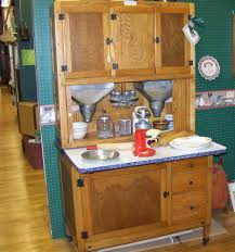 furniture hoosier cabinet in brown with white countertop for home