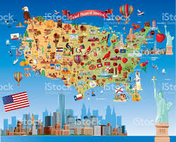 Map Of Illinois And Indiana by Cartoon Map Of Usa Stock Vector Art 482903699 Istock