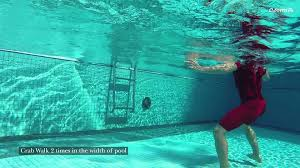 wet tone up exercise cardio inside the swimming pool by armia