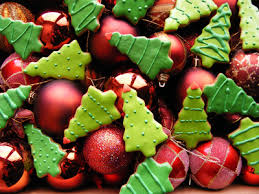 christmas tree cookies and ornaments pictures photos and images