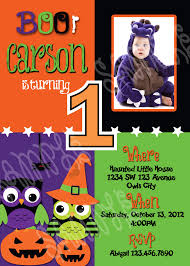 1st birthday halloween invitations disneyforever hd invitation