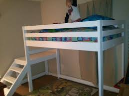 Build Loft Bed With Stairs by Ana White Camp Loft Bed With Stair Junior Height Diy Projects