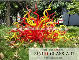 modern garden decoration garden statues blown glass sculpture