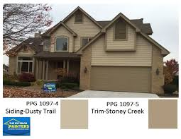 ppg 1097 4 dusty trail for siding ppg 1097 5 stoney creek for