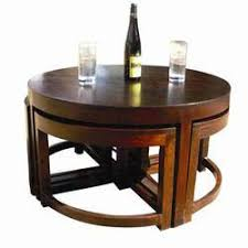 rustic wedge end table modern round brown nesting cocktail coffee table with 4 wedge tables