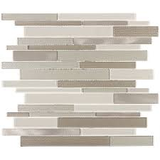 elida ceramica coquina linear mosaic glass and metal wall tile