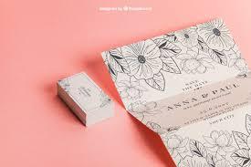 cartes mariage invitation et cartes de mariage florales télécharger psd