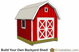 Gambrel Style Roof Barn Shed Plans Classic American Gambrel Diy Barn Designs