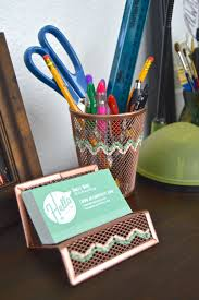 Diy Desk Accessories by Diy Embroidered Copper Desk Accessories Revamperate
