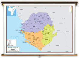 Map Of Sierra Leone Sierra Leone Political Educational Wall Map From Academia Maps