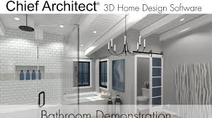 chief architect x9 bathroom demonstration youtube
