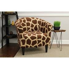 Printed Accent Chair Mainstays Marlee Animal Printed Bucket Accent Chair Walmart Com