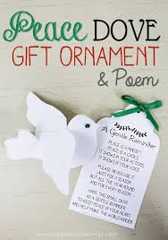 peace dove gift ornament poem peace dove unique gifts and