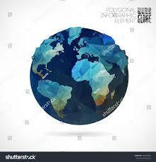 3d Map Of The World vector world globe 3d triangular map stock vector 184589660